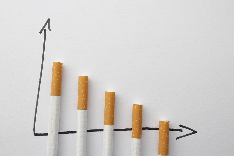 graphique de la consommation de cigarettes